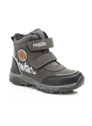 Noxis Noxis Mountain Erkek Çocuk İçi Kürklü Kışlık Trekking Bot Füme